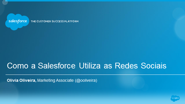 Como a Salesforce Utiliza as Redes Sociais