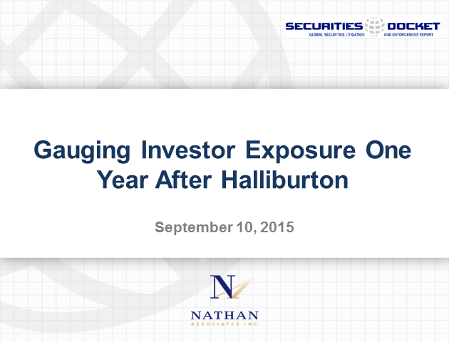 Gauging Investor Exposure One Year After Halliburton