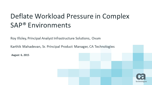 Deflate Workload Pressure in Complex SAP Environments
