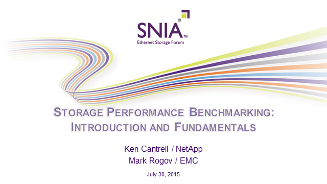 Storage Performance Benchmarking:  Introduction and Fundamentals