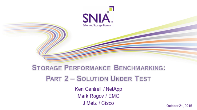 Storage Performance Benchmarking: Part 2