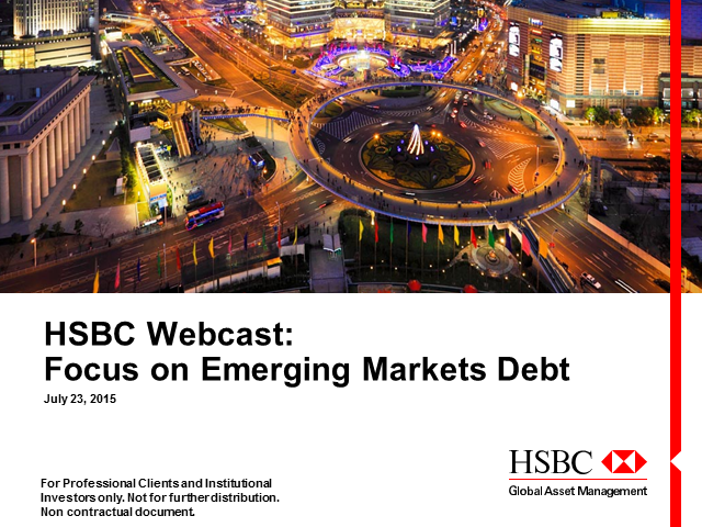 HSBC Webcast: Focus on EMD