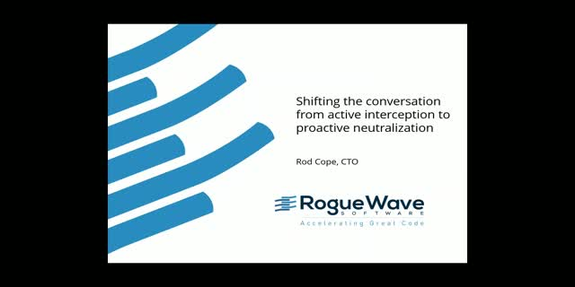 Shifting the conversation from active interception to proactive neutralization