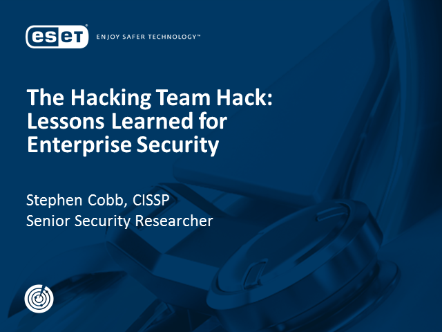 The Hacking Team Hack: Lessons Learned for Enterprise Security
