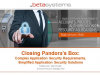 Closing Pandora's Box: Complex Application Security Requirements, Simplified App