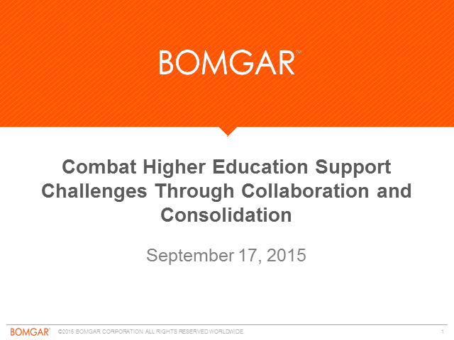 Combat Higher Education Support Challenges Through Collaboration & Consolidation