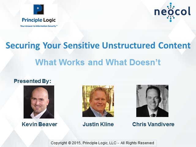 Securing Your Sensitive Unstructured Content – What Works and What Doesn't