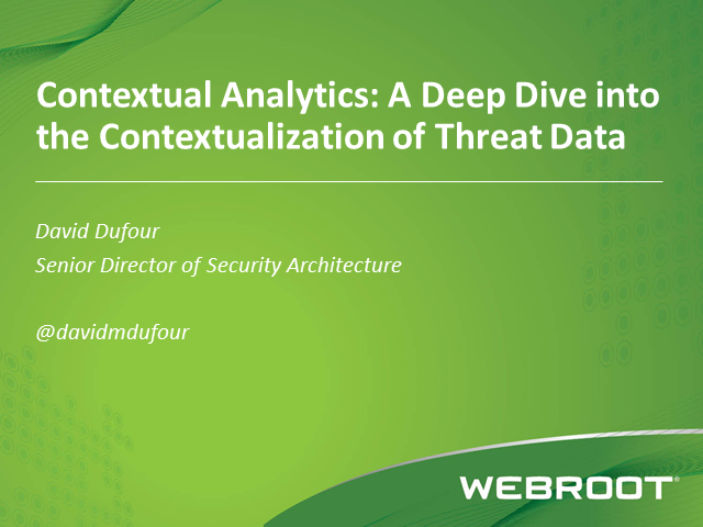Contextual Analytics: A Deep Dive into the Contextualization of Threat Data