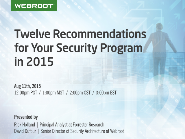 Twelve Recommendations for Your Security Program in 2015