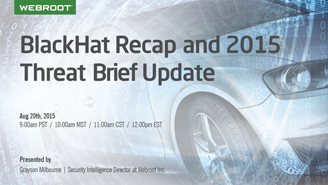 BlackHat Recap and 2015 Threat Brief Update