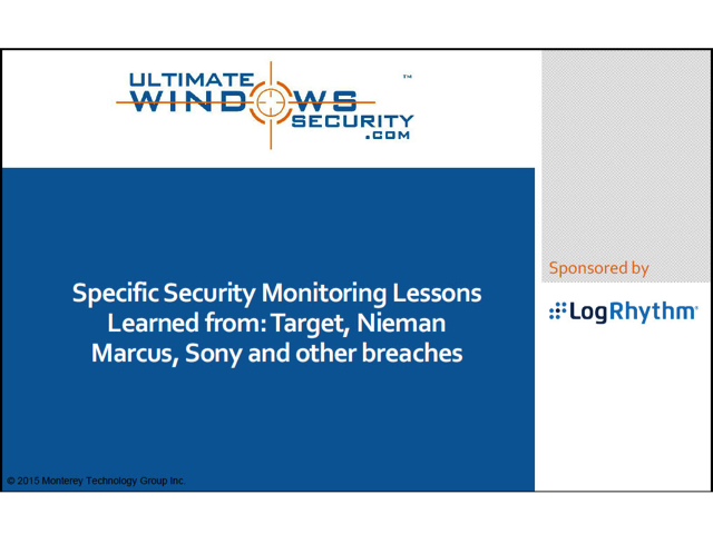 Security Lessons Learned from Target, Niemen Marcus, Sony and Other Breaches
