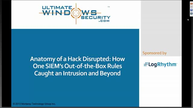 Anatomy of a Hack Disrupted: How Out-of-the-Box Rules Caught an Intrusion