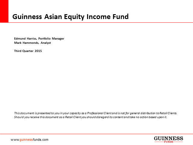 Guinness Asian Equity Income Fund - introduction