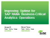 Improving uptime for SAP HANA business-critical analytics operations
