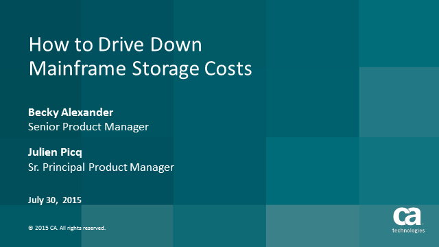 How to Drive Down Mainframe Storage Costs