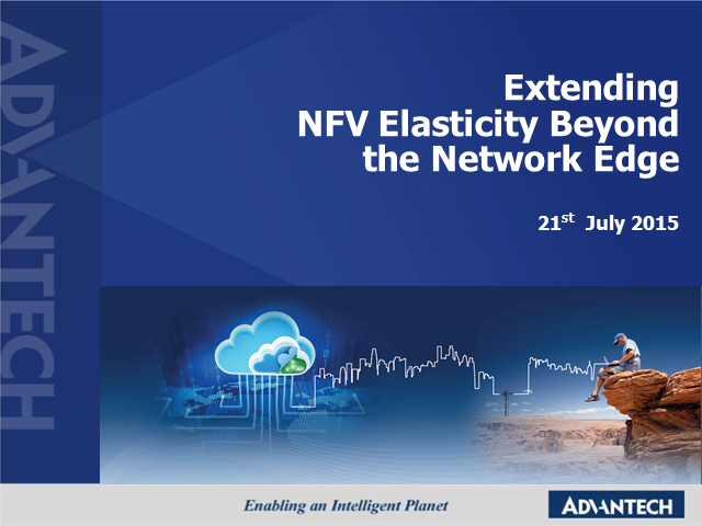 Extending NFV Elasticity beyond the Network Edge