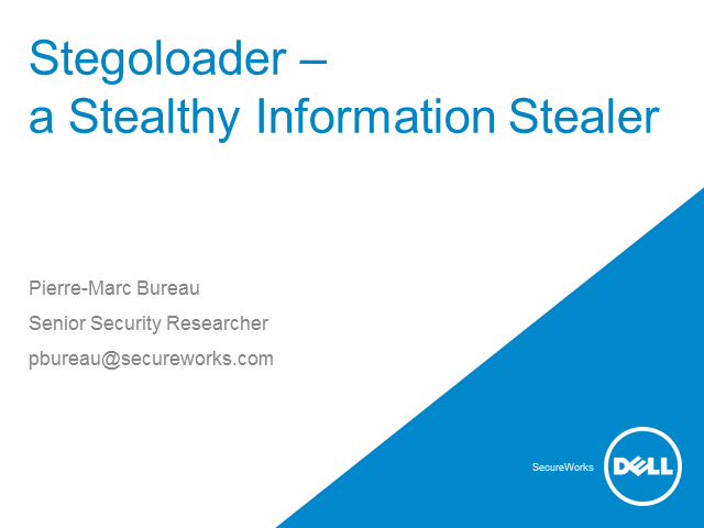 Stegoloader- A Stealthy Information Stealer