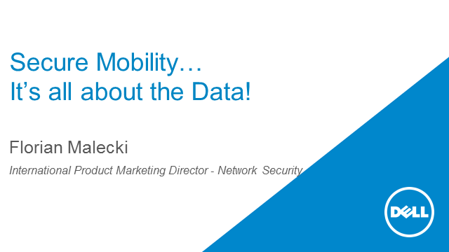 Secure Mobility: It Is All about the Data!
