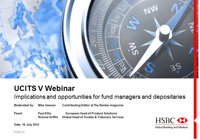 UCITS V: Implications and opportunities for fund managers and depositaries