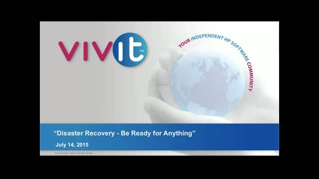 Disaster Recovery - Be Ready For Anything