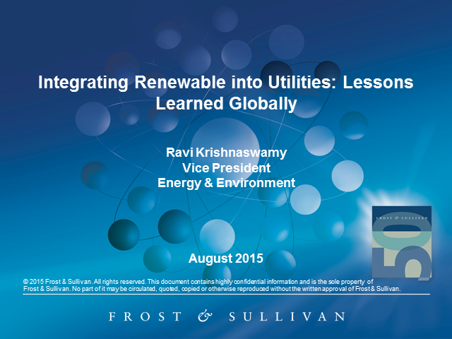 Integrating Renewable into Utilities: Lessons Learned Globally