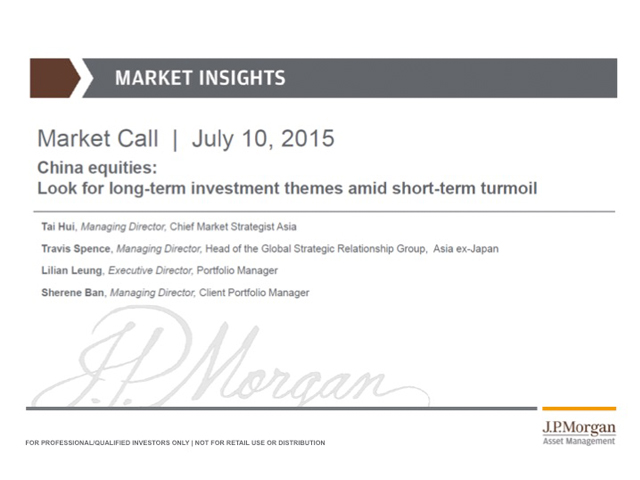 J.P. Morgan Market Insights: Look for long-term investment themes in China