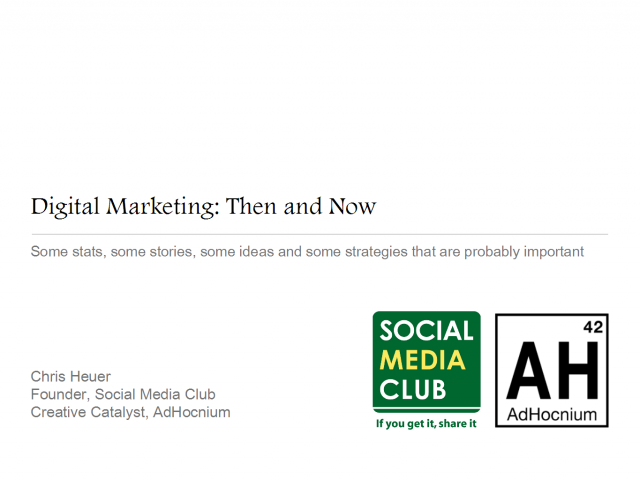 Digital Marketing: Then & Now