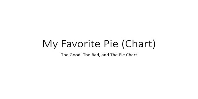 My Favourite Pie (chart): Simple Rules for Clear and Attractive Visuals