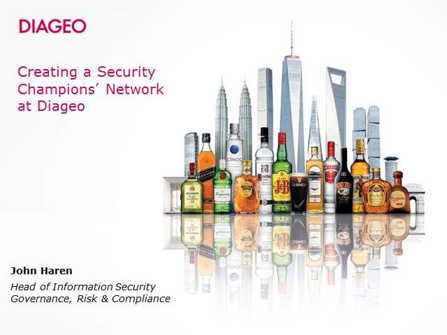 Creating a network of security champions at Diageo