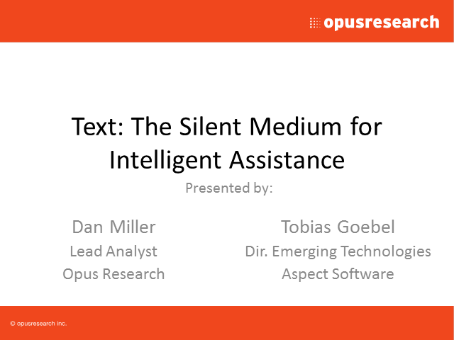 Text: The Silent Channel for Digital Marketing and Customer Care