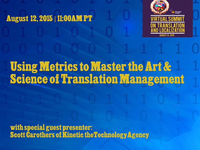 Using Metrics to Master the Art & Science of Translation Management