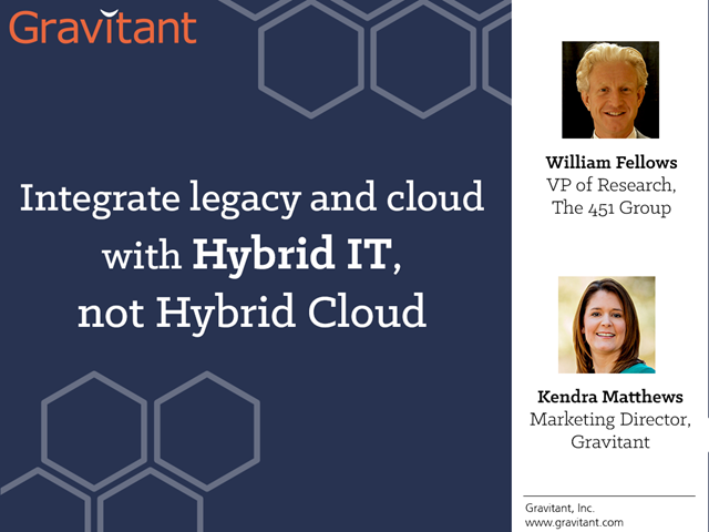 Integrate legacy and cloud with Hybrid IT, not Hybrid Cloud