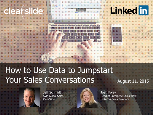How to Use Data to Jumpstart Your Sales Conversations