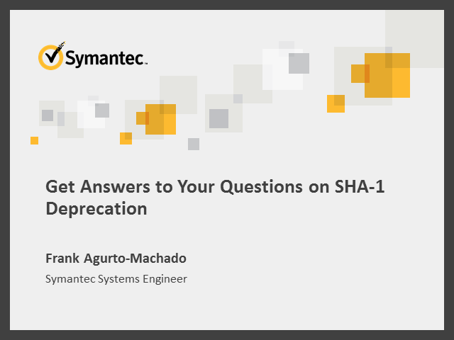 Get Answers to Your Questions on SHA-1 Deprecation