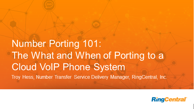 Number porting 101: The What and When of Porting to a Cloud VoIP Phone System