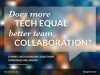 Does more tech equal better team collaboration?