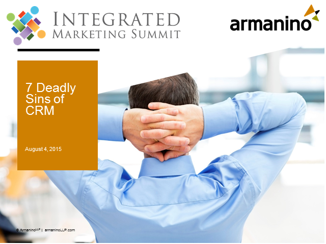 7 Deadly Sins of CRM
