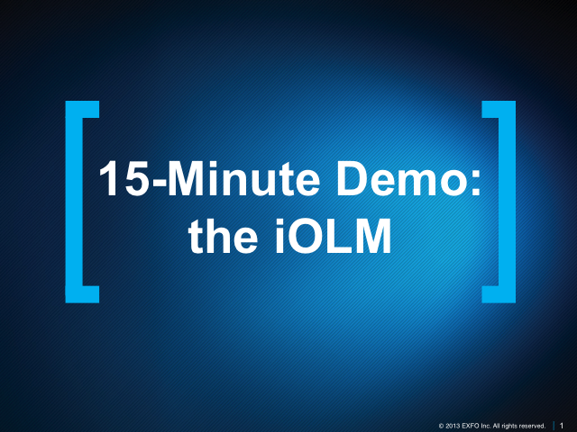 15-Minute Demo: the iOLM