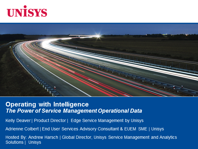 Operating with Intelligence: The Power of Service Management Operational Data