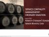 Service Continuity Management: Ordinary Disasters
