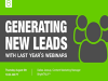 Generating New Leads With Last Year's Webinars