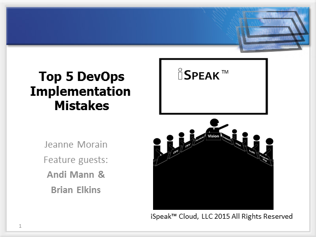 iSpeak™ DevOps: Top 5 Implementation Mistakes to Avoid