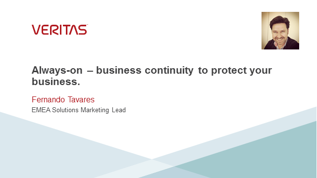 Always-on – business continuity to protect your business.