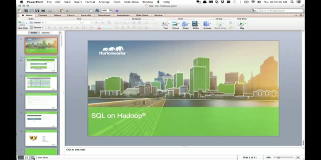 Hortonworks Technical Workshop: SQL on Hadoop