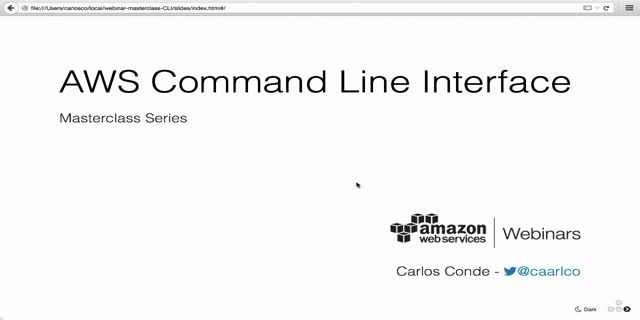 Masterclass: AWS Command Line Interface