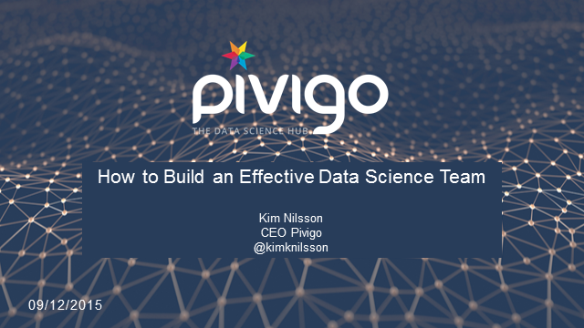 How to Build an Effective Data Science Team