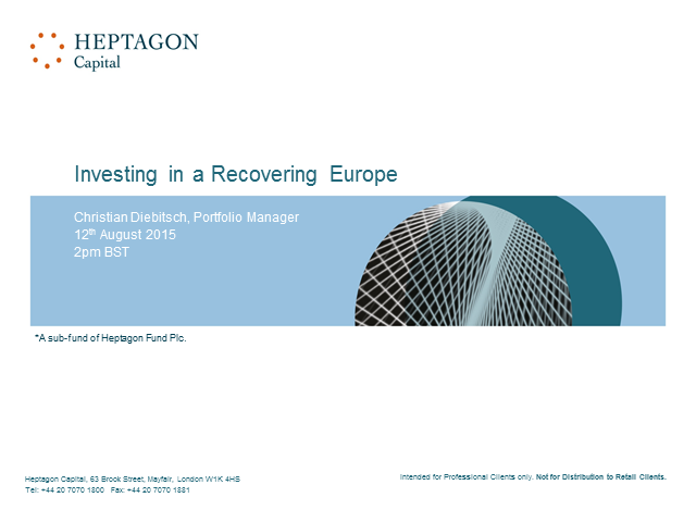 Investing in a Recovering Europe