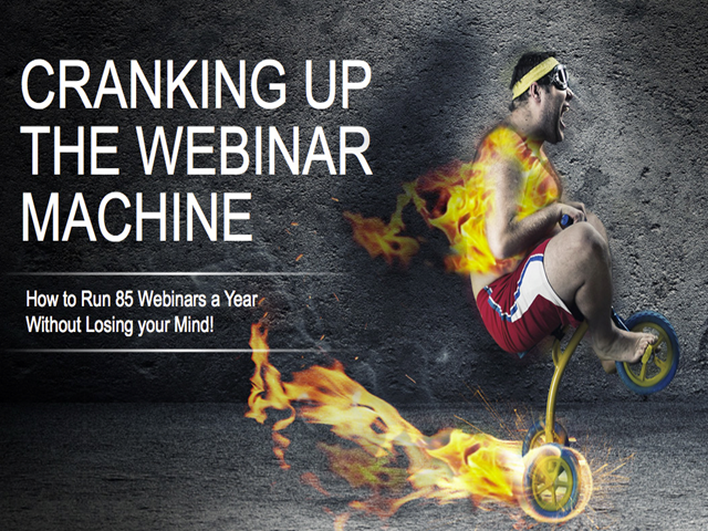 How to Run 85 Webinars a Year Without Losing Your Mind