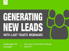 Generating New Leads With Last Year's Webinars - EMEA Edition