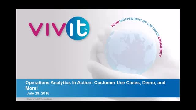 Operations Analytics In Action- Customer Use Cases, Demo, and More!